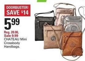 Shopko Black Friday: Chateau Mini Crossbody Handbags for $5.99