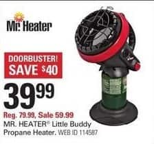 Shopko Black Friday: Mr Heater Little Buddy Propane Heater for $39.99