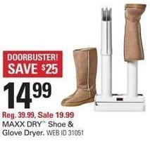 Shopko Black Friday: Maxx Dry Shoe & Glove Dryer for $14.99