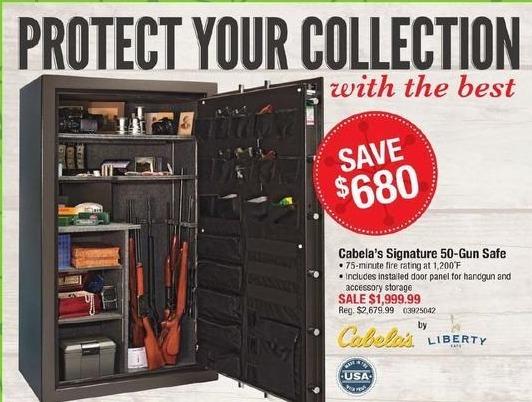 Cabelas Black Friday: Cabela's Signature 50-Gun Safe for $1,999.99
