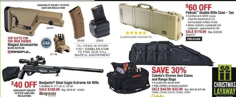 Cabelas Black Friday: Pelican Double Rifle Case for $179.99