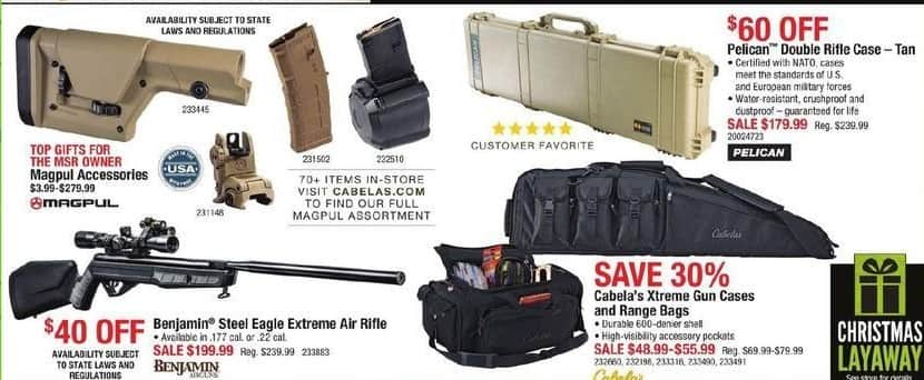 Cabelas Black Friday: Cabela's Xtreeme Gun Cases and Range Bags for $48.99 - $55.99