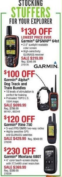 Cabelas Black Friday: Garmin GPSMAP 64st for $219.99