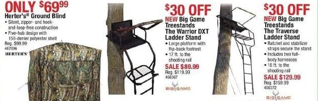 Cabelas Black Friday: Big Game Treestands The Traverse Ladder Stand for $129.99