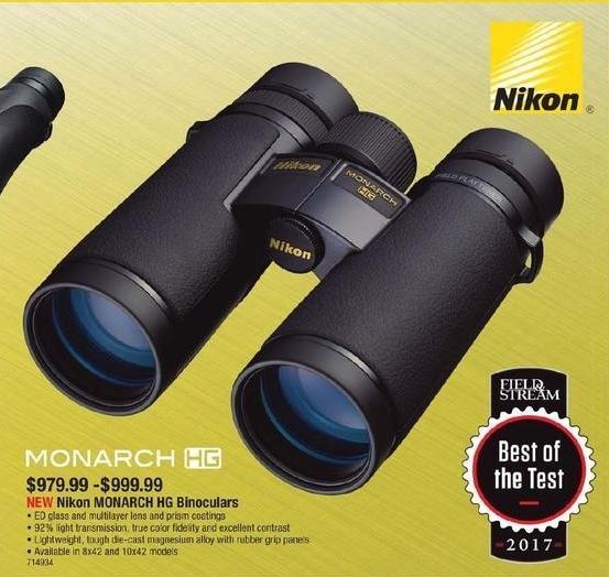 Cabelas Black Friday: Nikon Monarch HG Binoculars for $979.99 - $999.99
