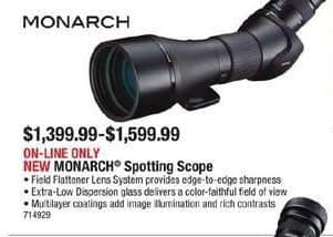 Cabelas Black Friday: Monarch Spotting Scope for $1,399.99 - $1,599.00