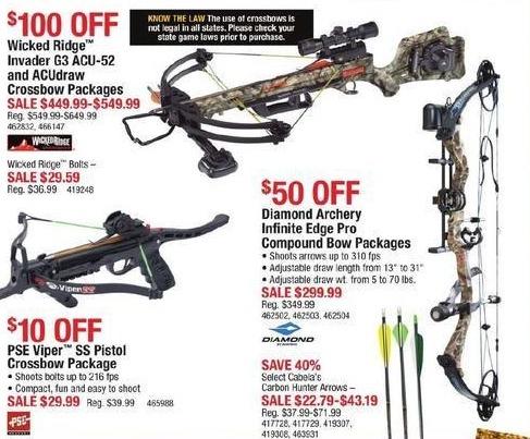 Cabelas Black Friday: PSE Viper SS Pistol Crossbow Package for $29.99