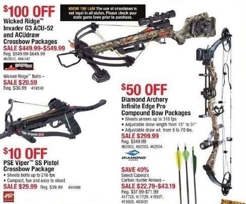 Cabelas Black Friday: Diamond Archery Infinite Edge Pro Compound Bow Packages for $299.99
