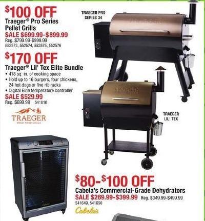 Cabelas Black Friday: Traeger Pro Series Pellet Grills for $699.99 - $899.99