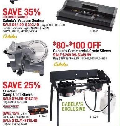 Cabelas Black Friday: Cabela's Vacuum Sealers for $64.99 - $292.49