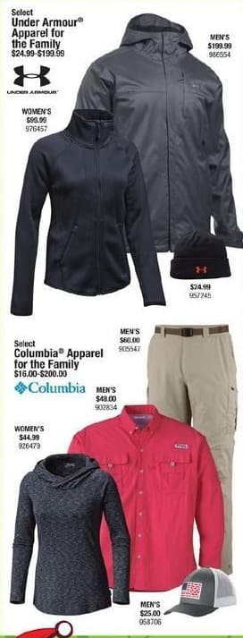 Cabelas Black Friday: Columbia Apparel for the Family for $16.00 - $200.00