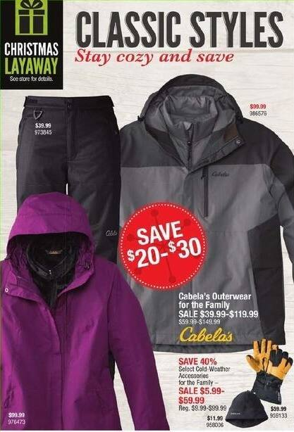 Cabelas Black Friday: Cabela's Outerwear for the Family for $39.99 - $119.99