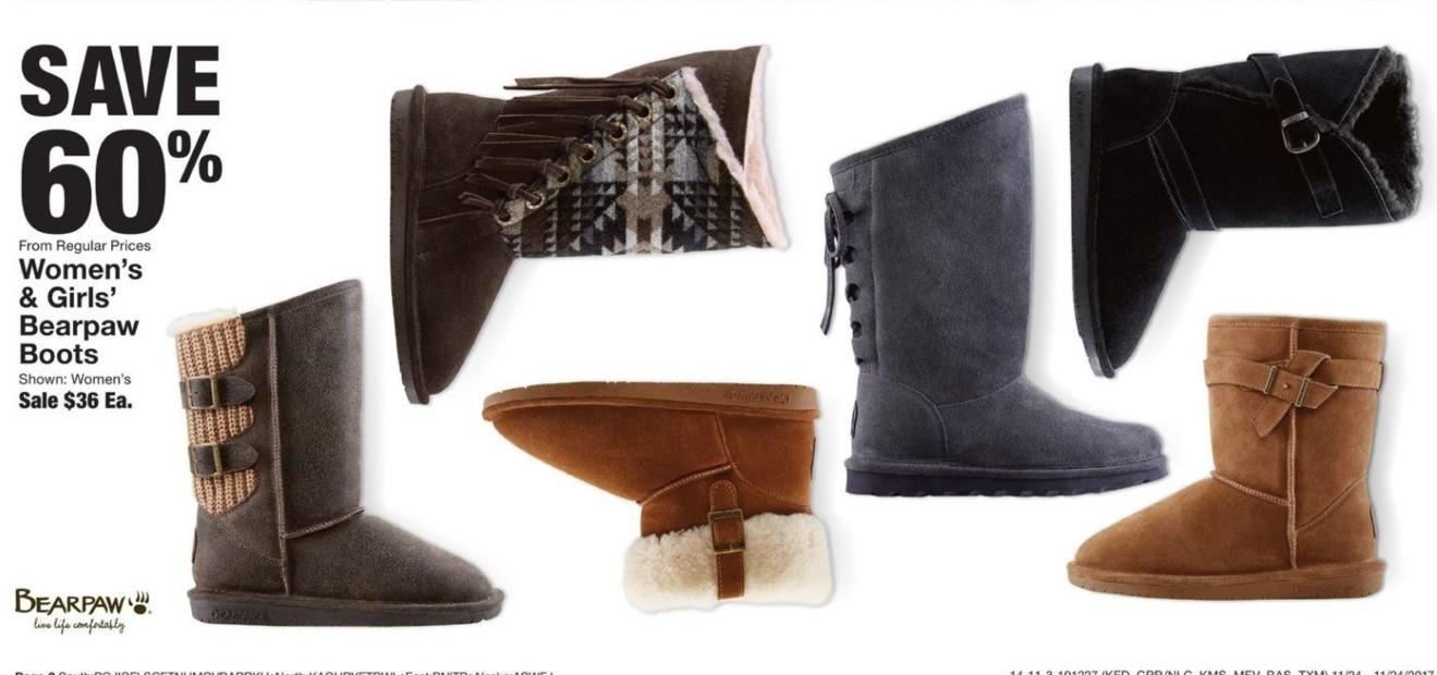 Fred Meyer Black Friday: Women's & Girls' Bearpaw Boots - 60% Off