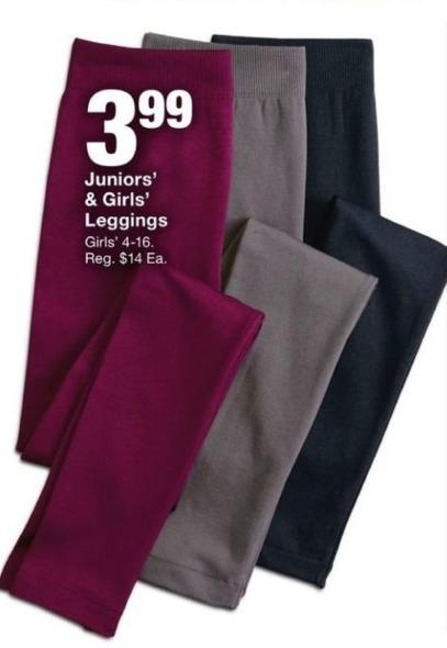 Fred Meyer Black Friday: Juniors' & Girls' Leggings for $3.99