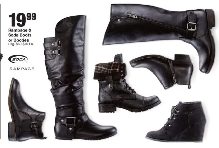 Fred Meyer Black Friday: Soda Boots & Booties for $19.99