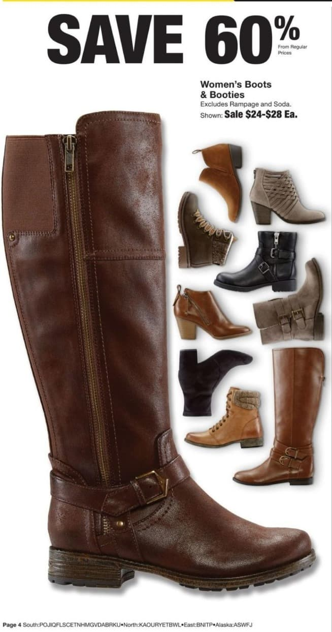 Fred Meyer Black Friday: Women's Boots & Booties - 60% Off