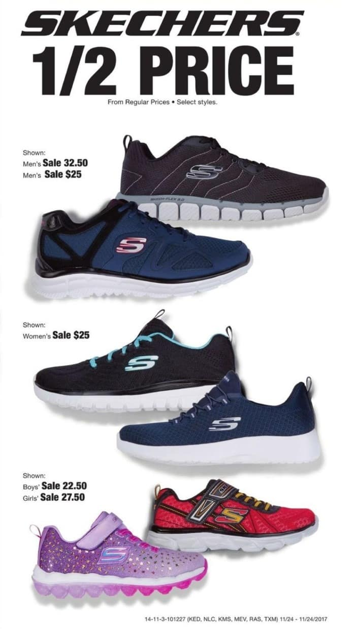 Fred Meyer Black Friday: Skechers Shoes - 50% Off