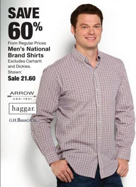 Fred Meyer Black Friday: Save 60% on Men's National Brand Shirts - 60% Off