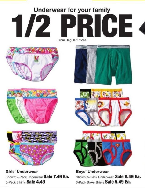 Fred Meyer Black Friday: 50% Of Underwear - 50% Off