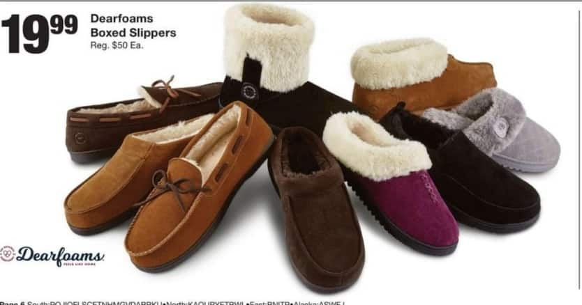 Fred Meyer Black Friday: Dearfoams Boxed Slippers for $19.99