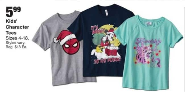 Fred Meyer Black Friday: Kids' Character Tees for $5.99