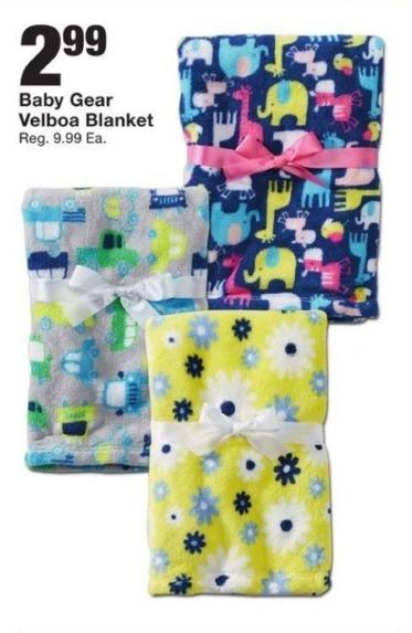 Fred Meyer Black Friday: Baby Gear Velboa Blanket for $2.99