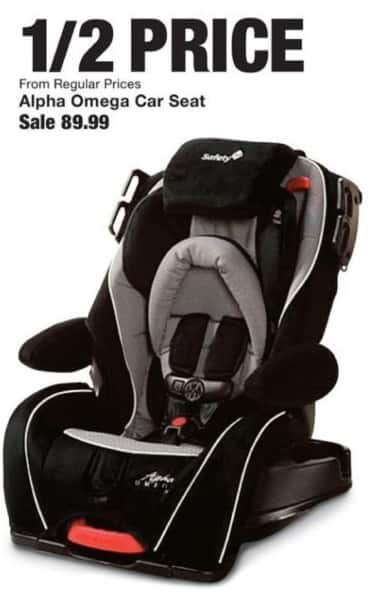 Fred Meyer Black Friday: Alpha Omega Car Seat - 50% Off