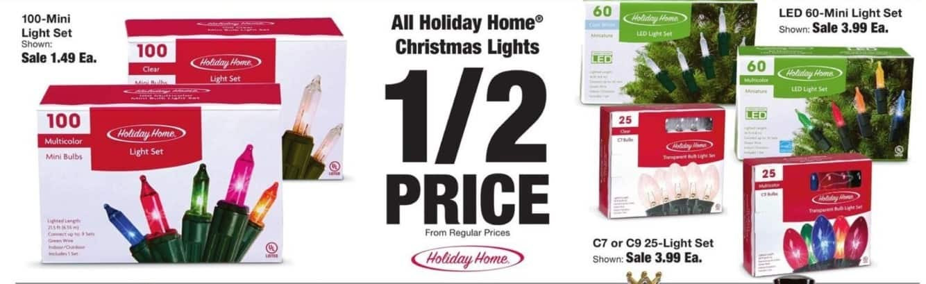 Fred Meyer Black Friday: Holiday Home Christmas Lights - 50% Off