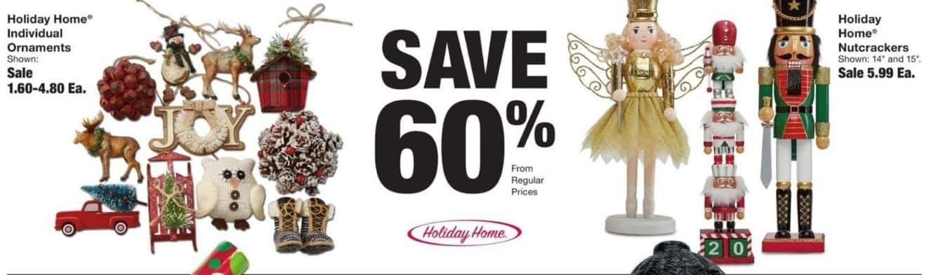 Fred Meyer Black Friday: Holiday Home Individual Ornaments - 60% Off