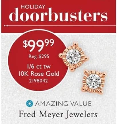 Fred Meyer Black Friday: 1/6 ct tw 10K Rose Gold for $99.99