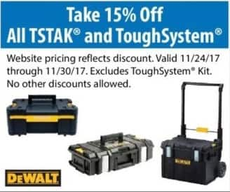 ACME Tools Black Friday: 15% Off All TSTAK and ToughSystem - 15% Off