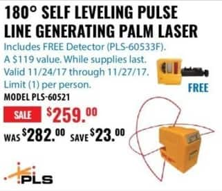 ACME Tools Black Friday: 180 Degree Self Leveling Pulse Line Generating for $259.00