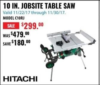 ACME Tools Black Friday: 10 IN. Jobsite Table Saw for $299.99