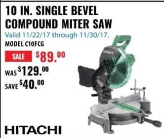 ACME Tools Black Friday: 10 IN. Single Bevel Compound Miter Saw for $89.00