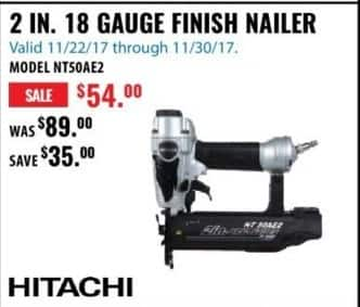 ACME Tools Black Friday: 2 IN. 18 Gauge Finish Nailer for $54.00