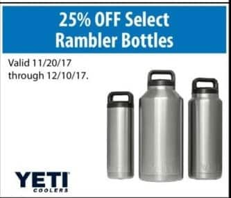 ACME Tools Black Friday: 25% Off Select Yeti Rambler Bottles - 25% Off