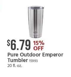Monoprice Black Friday: Pure Outdoor  Emperor Tumbler for $6.79
