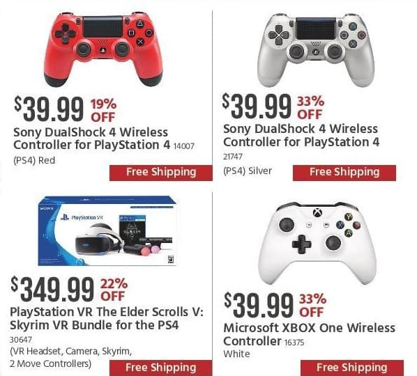 Monoprice Black Friday: Red Sony DualShock 4 Wireless Controller for $39.99