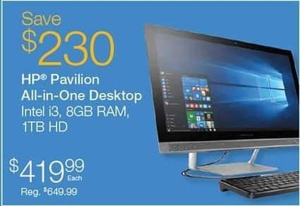 Quill Cyber Monday: HP Pavilion All in One Desktop for $419.99