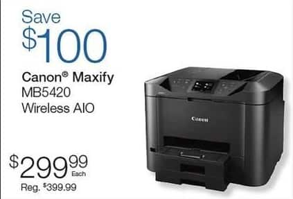 Quill Cyber Monday: Canon Maxify MB5420 Wireless All in One Printer for $299.99