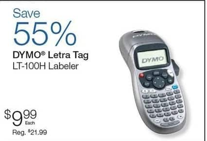 Quill Cyber Monday: Dymo Letra Tag LT-100H Labeler for $9.99