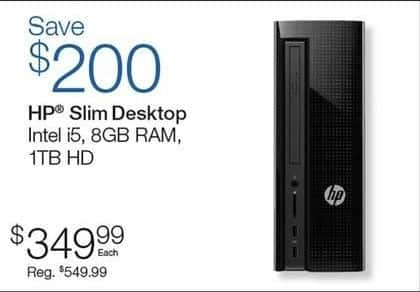 Quill Cyber Monday: HP Slim Desktop for $349.99