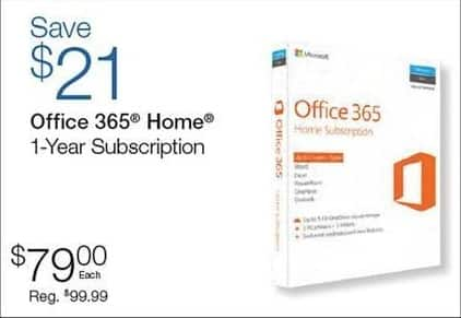 Quill Cyber Monday: Office 365 Home 1-Year Subscription for $79.00
