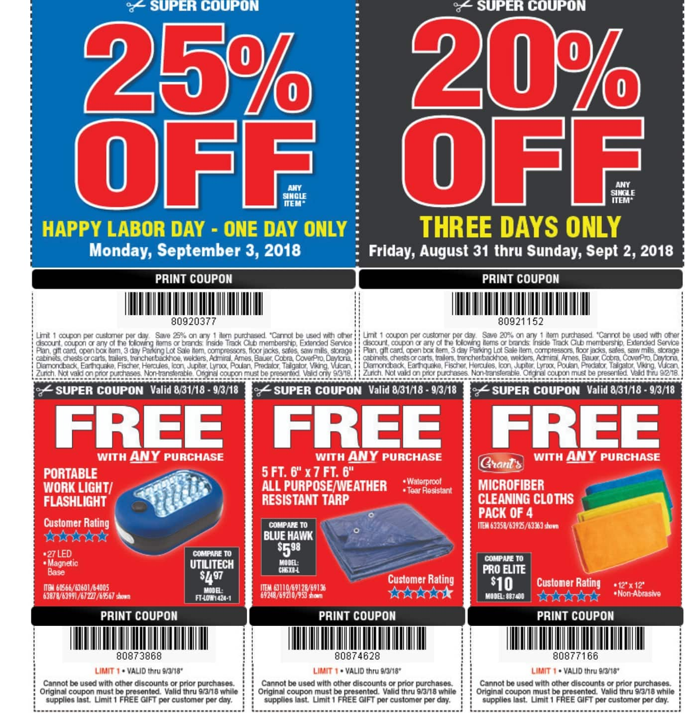 Harbor Freight Weekend Sale 20 Off Now Sunday 25 Off Monday
