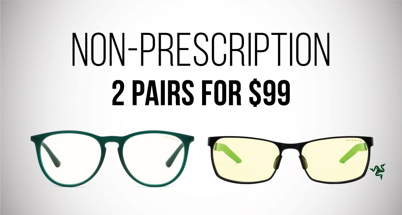 Gunnar Optiks: Prescription 2 Pairs for $149, Non-Prescription 2 Pairs for $99