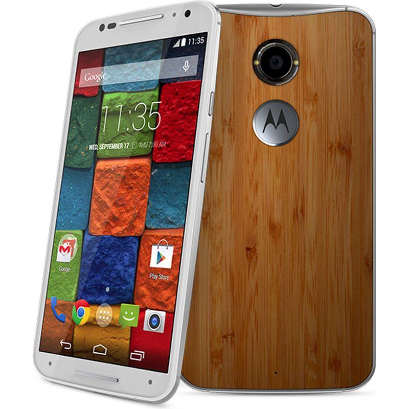 Motorola Moto X (2nd generation) Unlocked, 16GB, White/Bamboo $100 @ Fry's BM