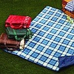"50""x60"" Northpoint Quilted Outdoor Blanket w/ Handles $14 shipped"