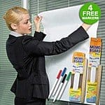 Contact Adhesive Dry Erase Memo Board Peel & Stick Roll w/ 4 Markers $4.99 + free shipping
