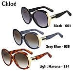 Chloe Alexi Ladies Oversized Round Sunglasses (various colors) $70 each with free shipping