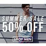 Tilly's Coupon for Additional Savings: 50% Off Sale Prices: Men's Tops from $6.50, Women's Tops from $2.50 & More + Free Shipping